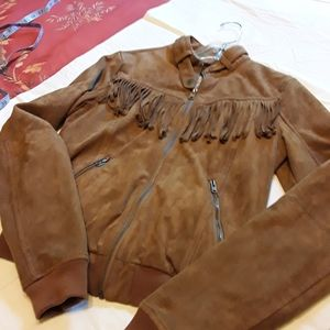 NWOT HOLLISTER FAUX SUEDE JACKET, TAN, SMALL